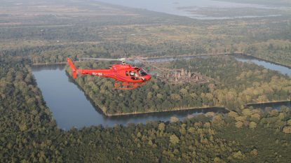Helicopter Over Angkor Wat 1
