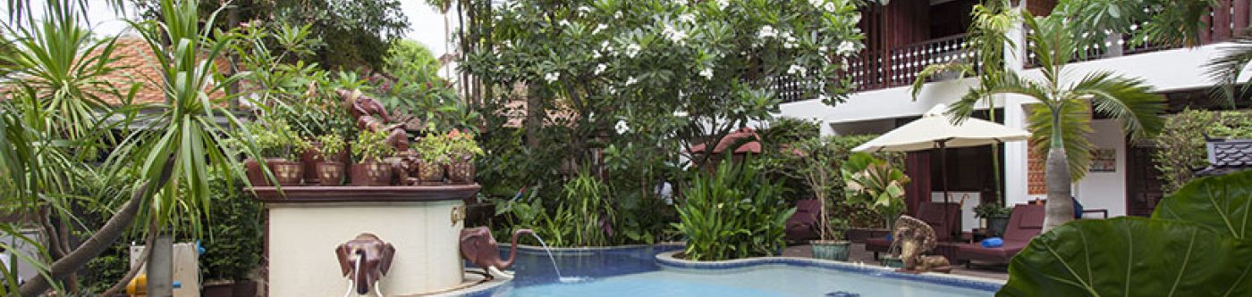 One of the pools at Montra Nivesha Boutique Residence in Siem Reap