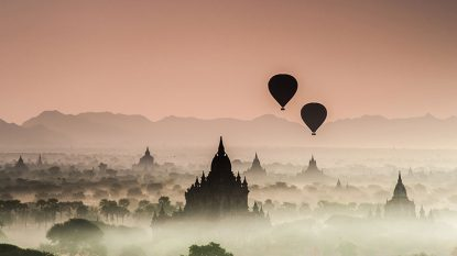 Hot Air Balloon Over Bagan Hanuman Travel 814X458