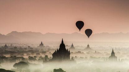 Hot Air Balloon Over Bagan Hanuman Travel 814X458